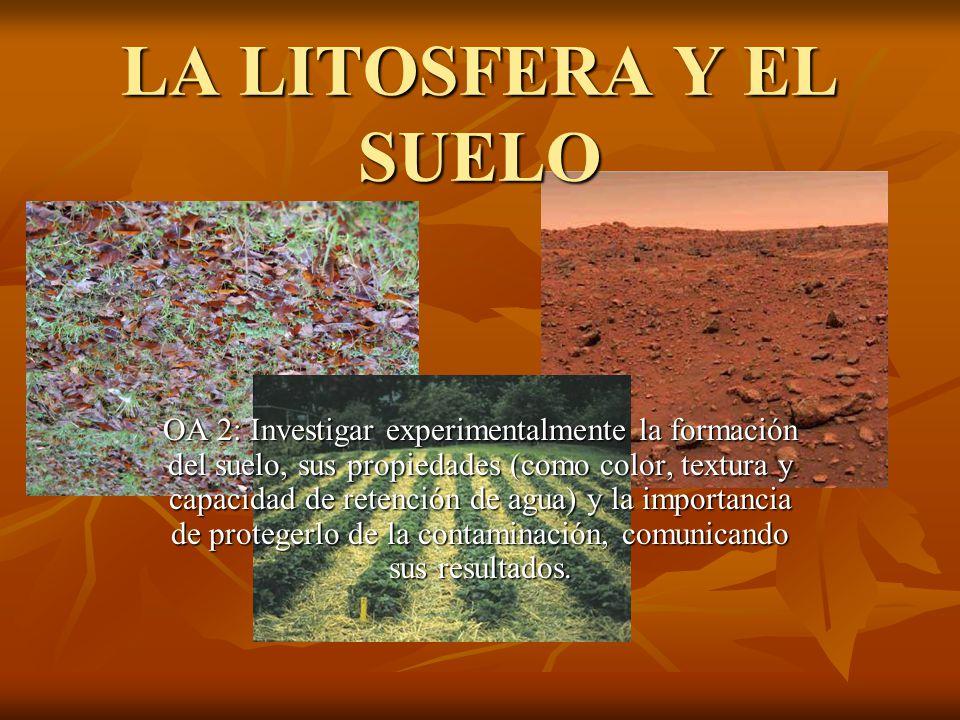 La litosfera y el suelo oa 2 investigar experimentalmente for El suelo y sus capas