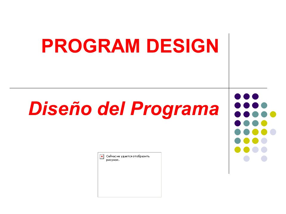PROGRAM DESIGN Diseño del Programa