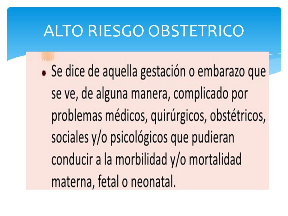 ALTO RIESGO OBSTETRICO