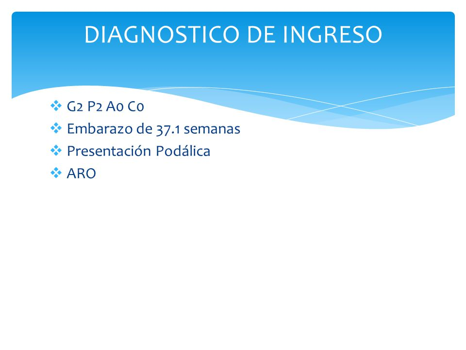 DIAGNOSTICO DE INGRESO