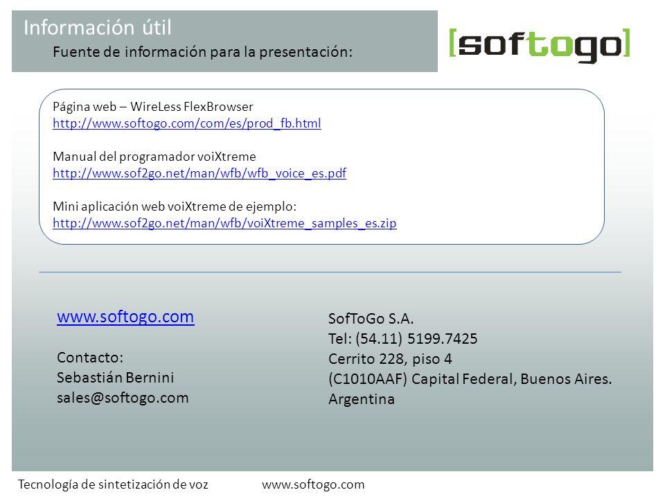 Información útil www.softogo.com