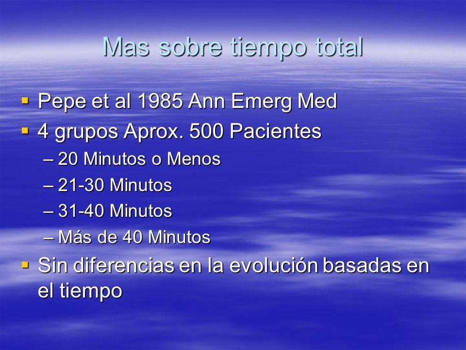 Mas sobre tiempo total Pepe et al 1985 Ann Emerg Med