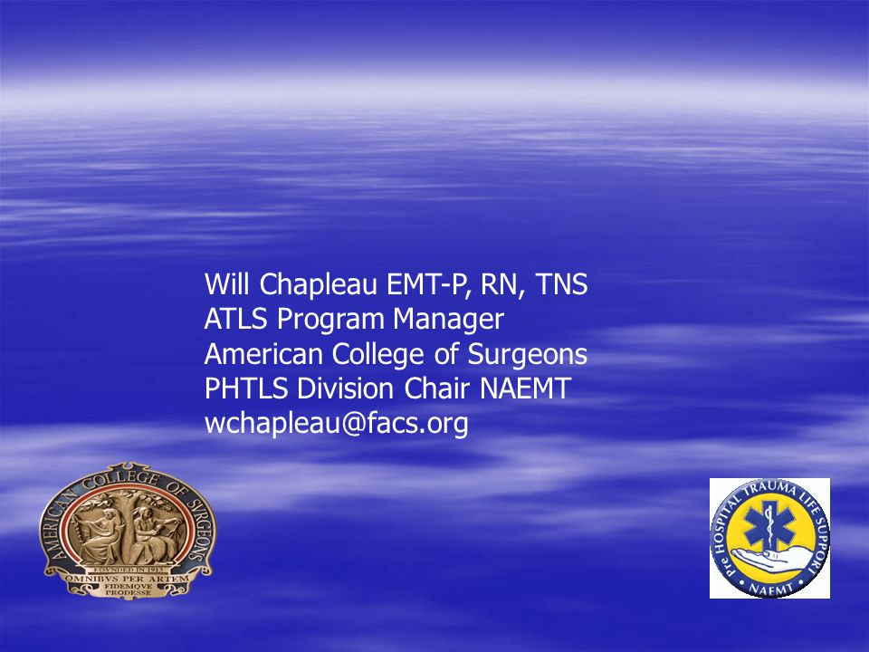 Will Chapleau EMT-P, RN, TNS