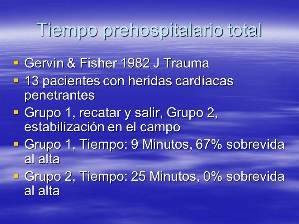 Tiempo prehospitalario total