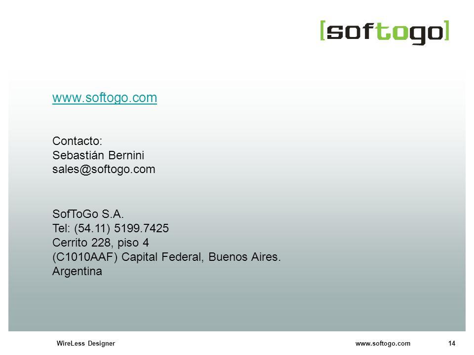 www.softogo.com Contacto: Sebastián Bernini sales@softogo.com