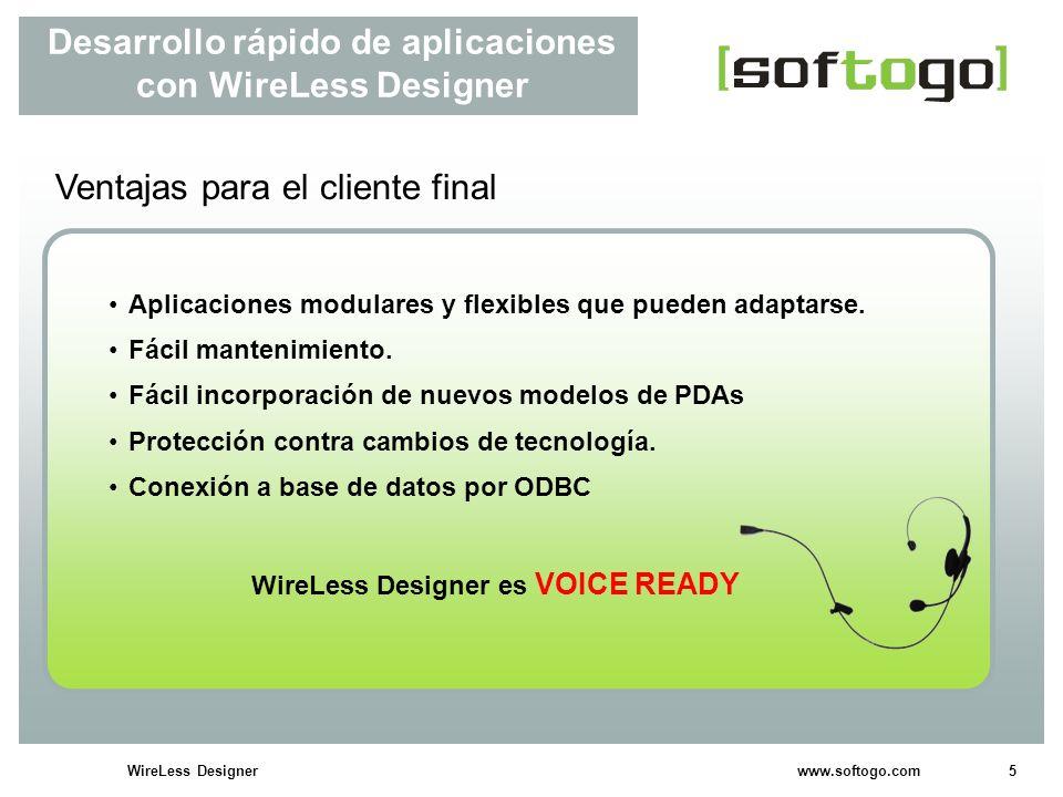 Desarrollo rápido de aplicaciones con WireLess Designer
