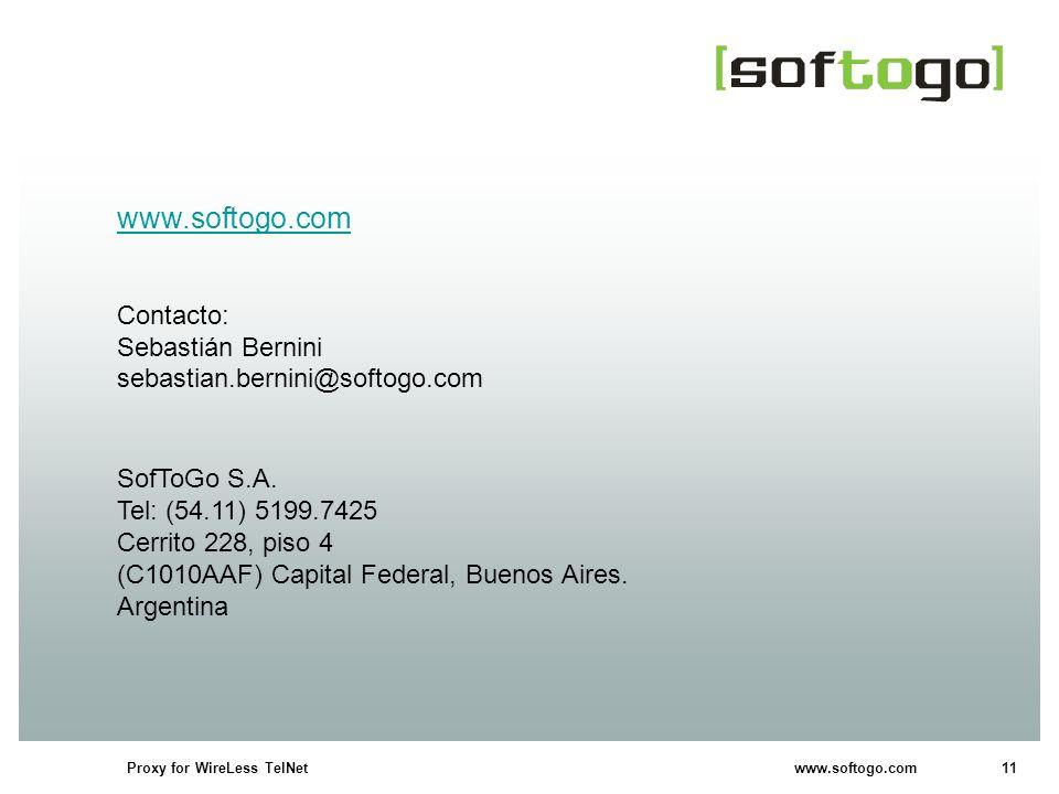 www.softogo.com Contacto: Sebastián Bernini