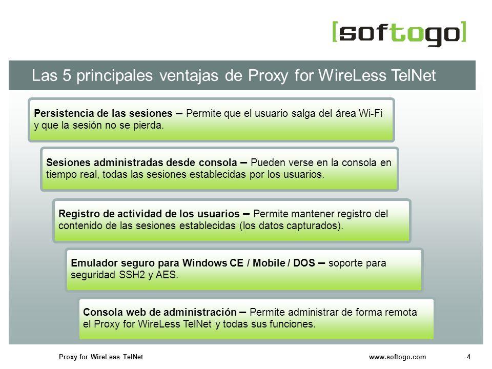 Las 5 principales ventajas de Proxy for WireLess TelNet