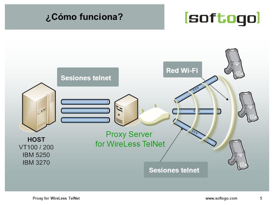 ¿Cómo funciona Proxy Server for WireLess TelNet Red Wi-Fi