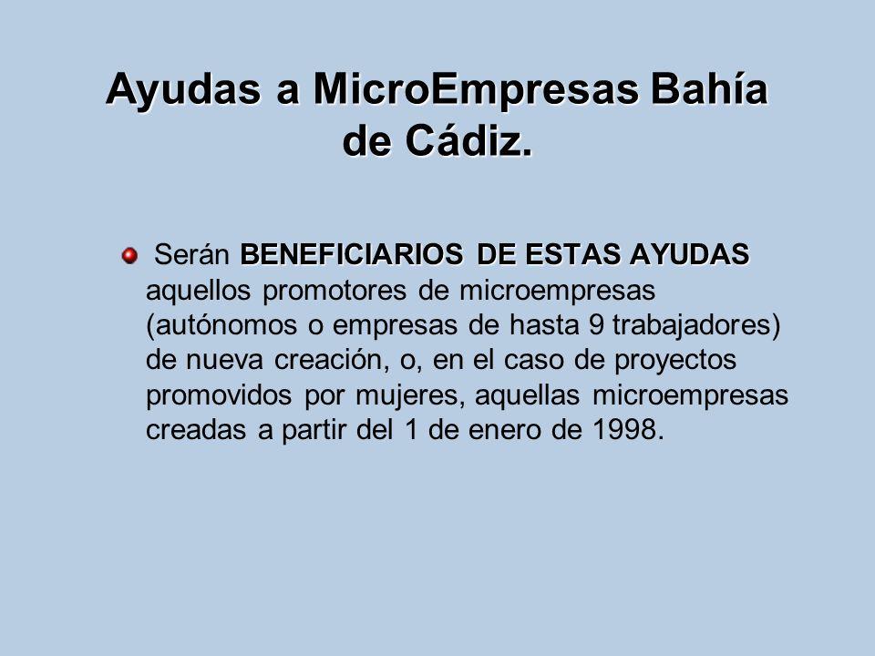 Ayudas a MicroEmpresas Bahía de Cádiz.