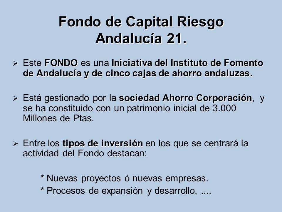 Fondo de Capital Riesgo Andalucía 21.