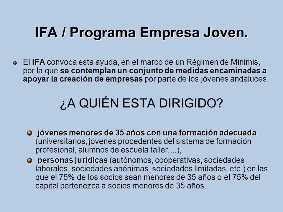 IFA / Programa Empresa Joven.