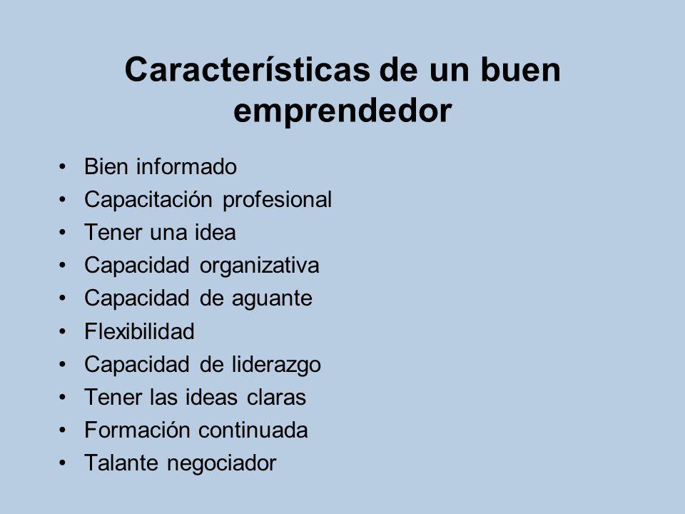 Características de un buen emprendedor