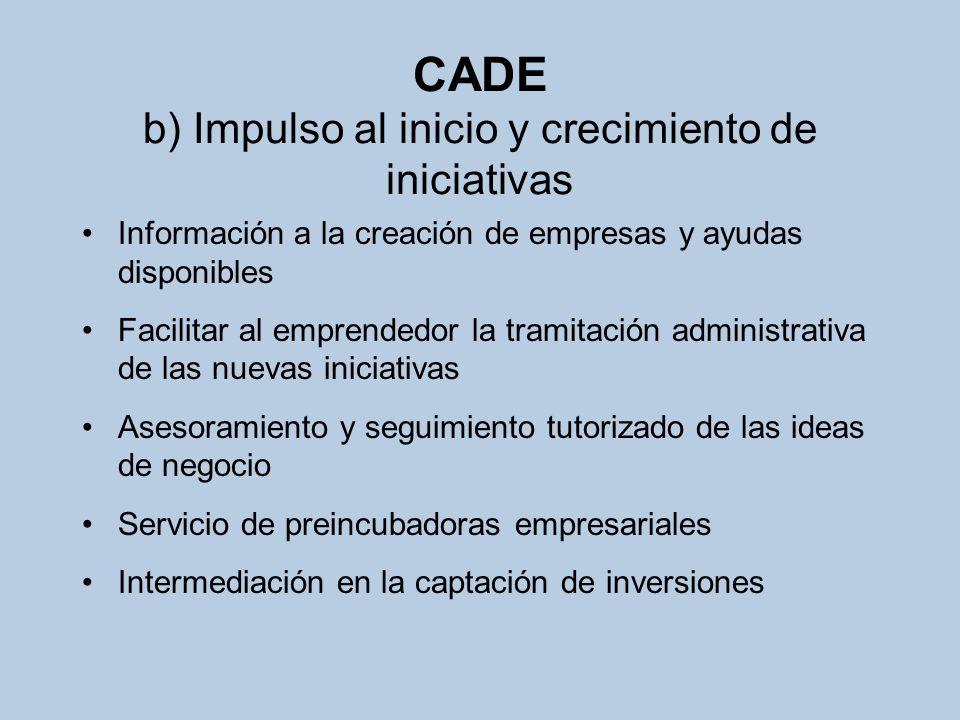 CADE b) Impulso al inicio y crecimiento de iniciativas