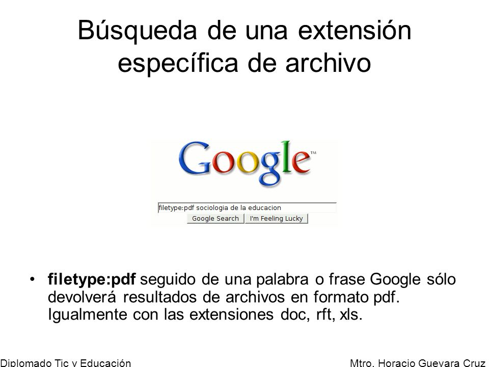Búsqueda de una extensión específica de archivo