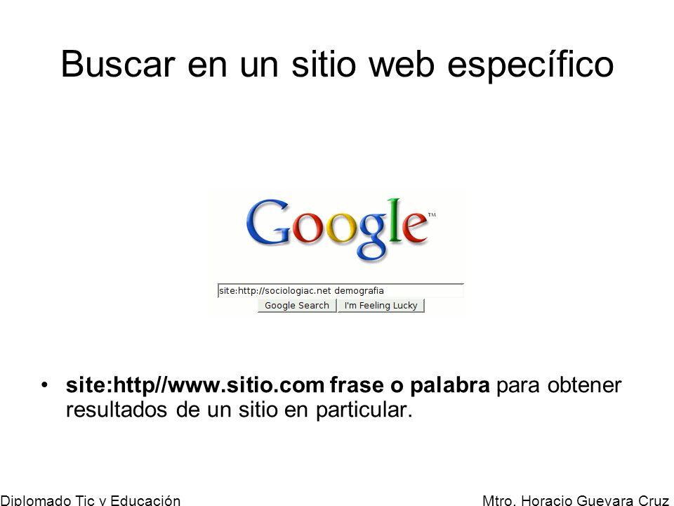 Buscar en un sitio web específico