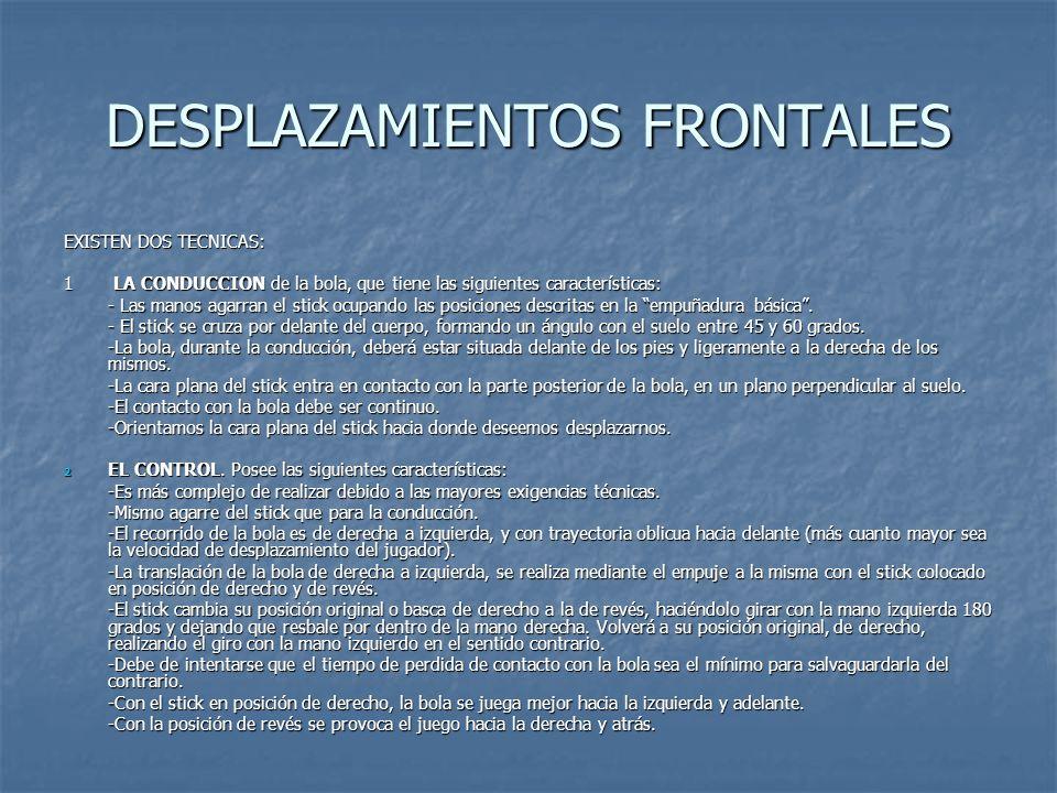 DESPLAZAMIENTOS FRONTALES