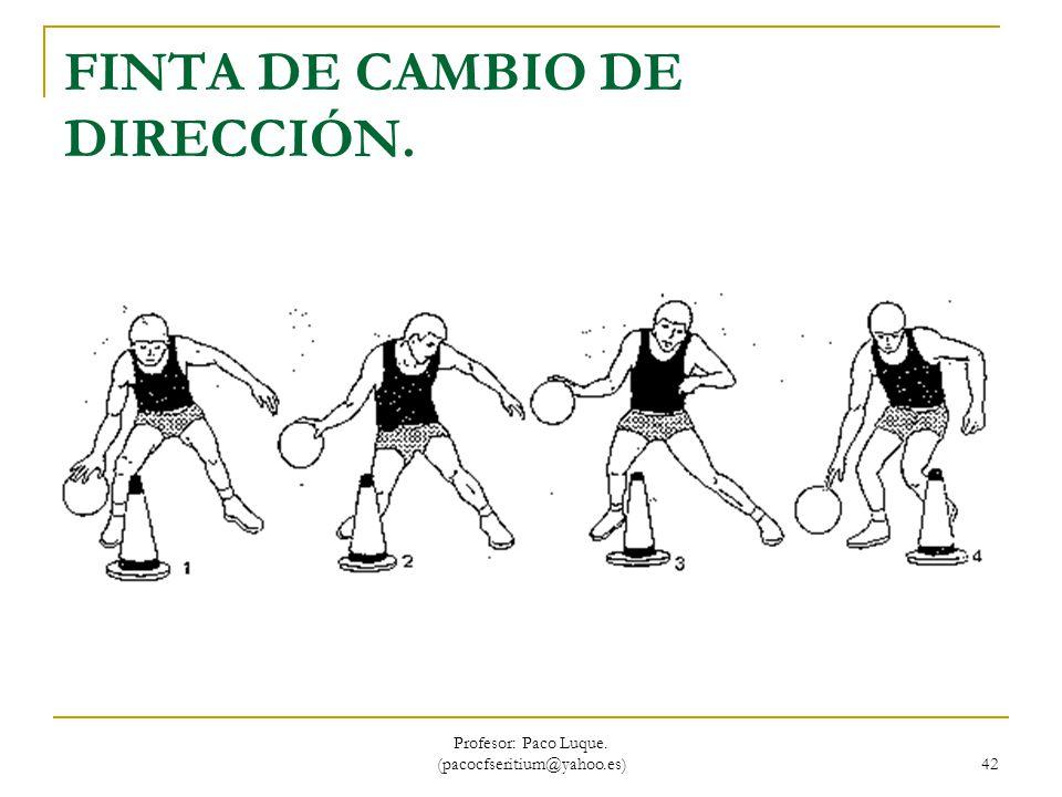 FINTA DE CAMBIO DE DIRECCIÓN.