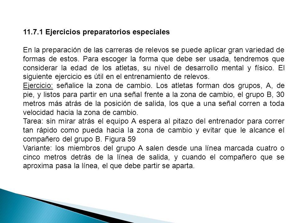 11.7.1 Ejercicios preparatorios especiales