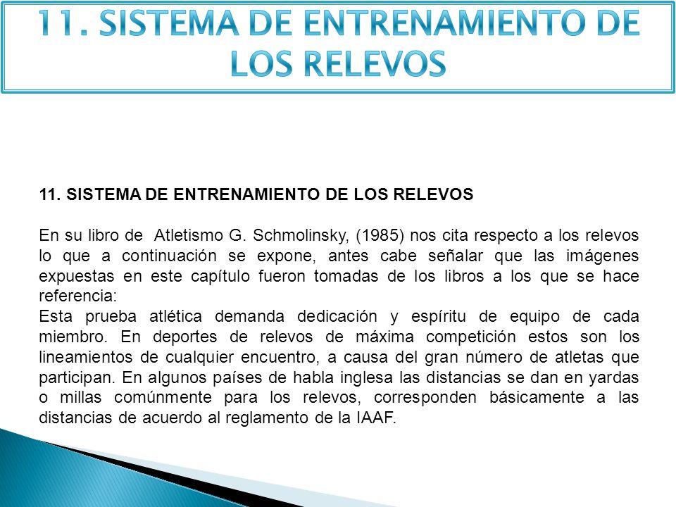 11. SISTEMA DE ENTRENAMIENTO DE LOS RELEVOS