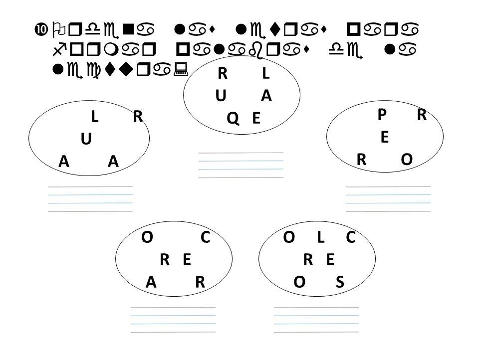 Ordena las letras para formar palabras de la lectura: