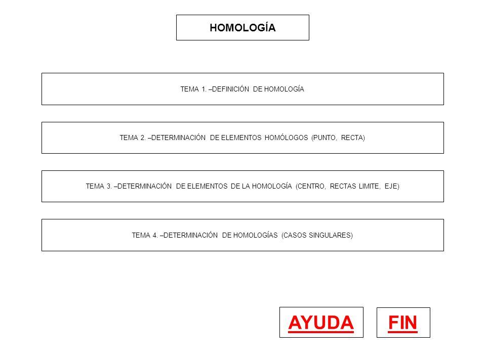 AYUDA FIN HOMOLOGÍA TEMA 1. –DEFINICIÓN DE HOMOLOGÍA