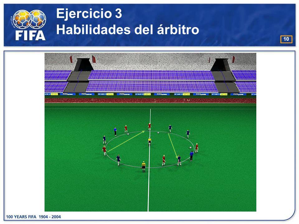 Ejercicio 3 Habilidades del árbitro