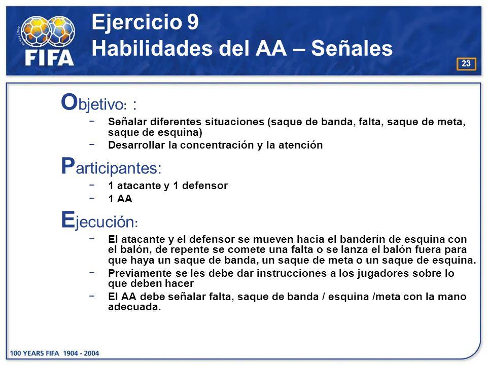 Ejercicio 9 Habilidades del AA – Señales