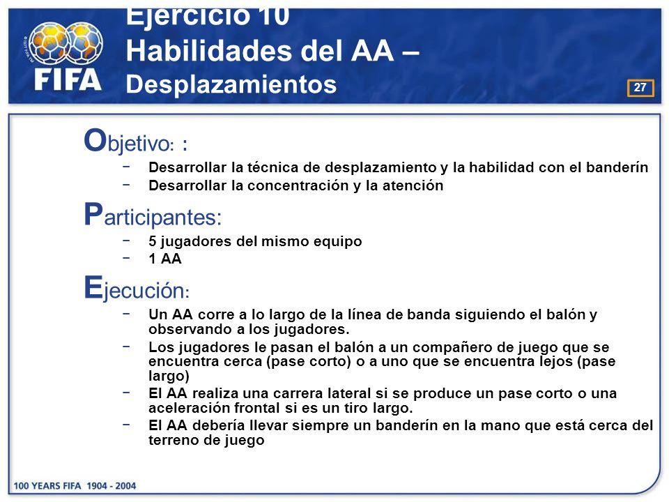 Ejercicio 10 Habilidades del AA – Desplazamientos