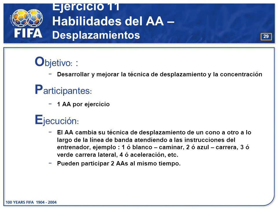 Ejercicio 11 Habilidades del AA – Desplazamientos