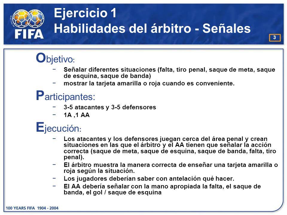 Ejercicio 1 Habilidades del árbitro - Señales