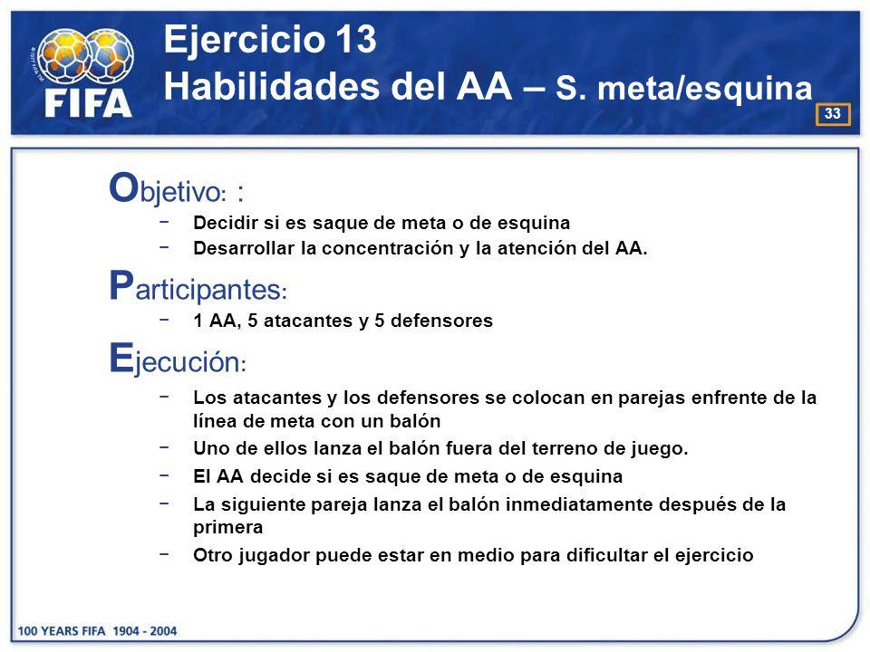 Ejercicio 13 Habilidades del AA – S. meta/esquina