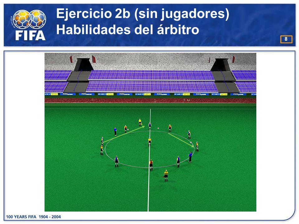 Ejercicio 2b (sin jugadores) Habilidades del árbitro