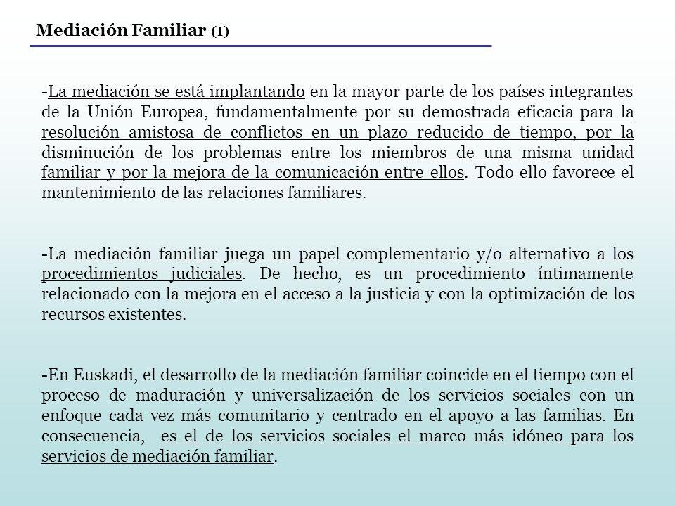 Mediación Familiar (I)