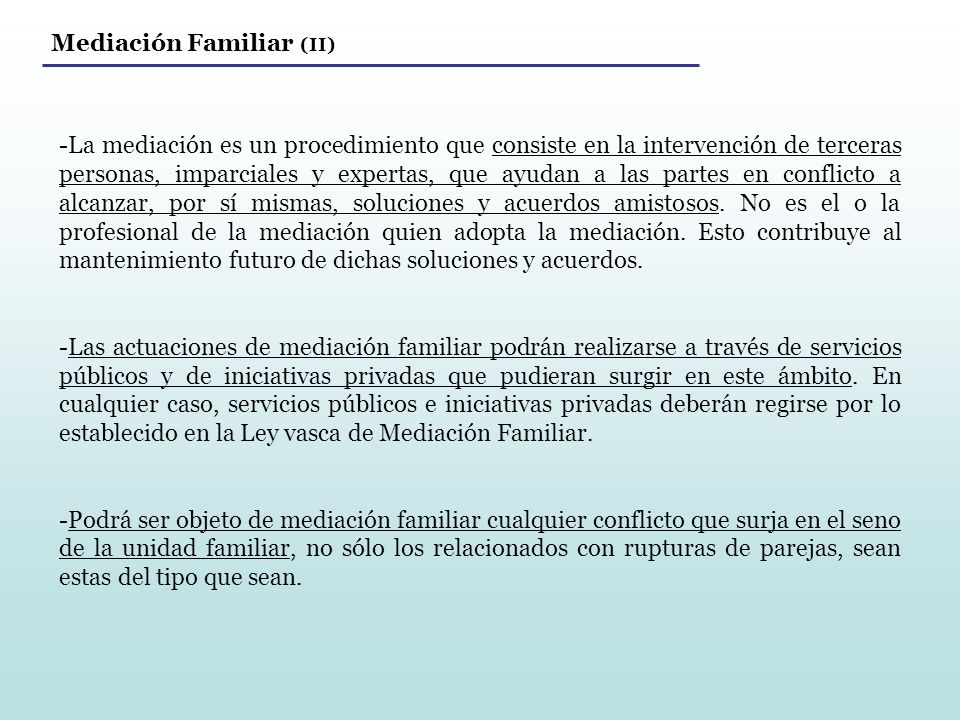 Mediación Familiar (II)