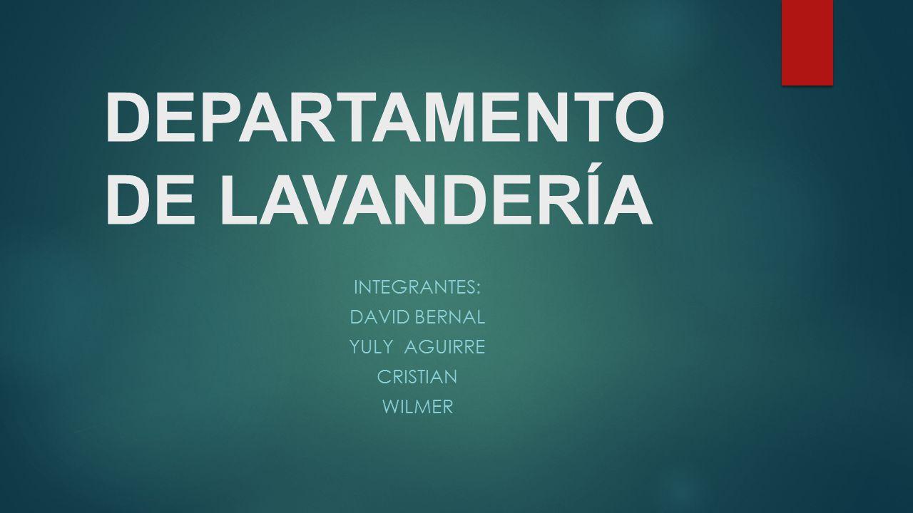 DEPARTAMENTO DE LAVANDERÍA