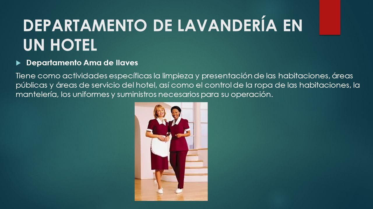 DEPARTAMENTO DE LAVANDERÍA EN UN HOTEL