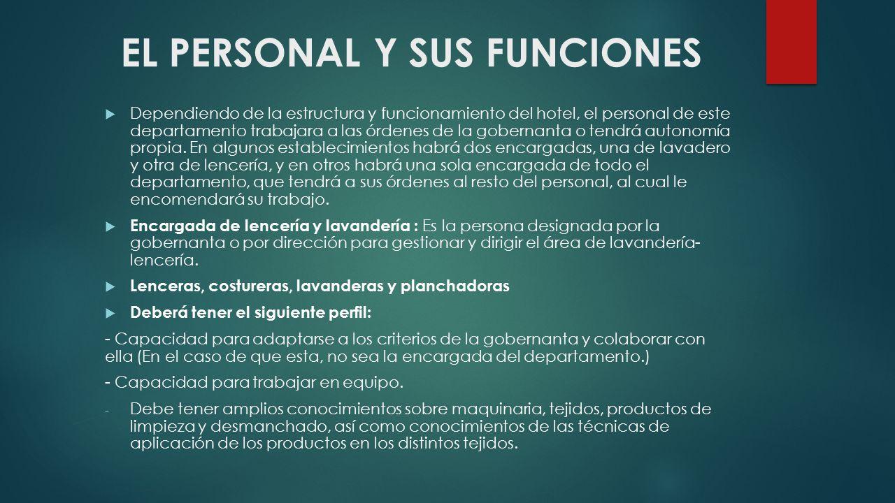 EL PERSONAL Y SUS FUNCIONES