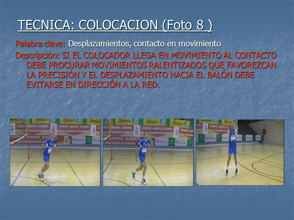 TECNICA: COLOCACION (Foto 8 )