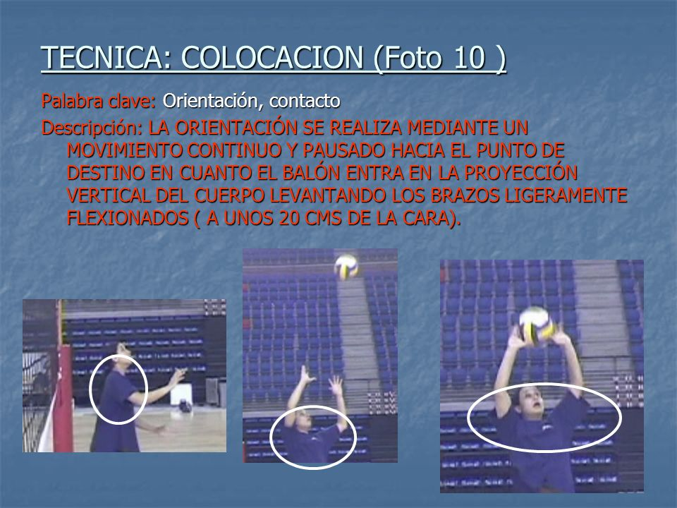 TECNICA: COLOCACION (Foto 10 )