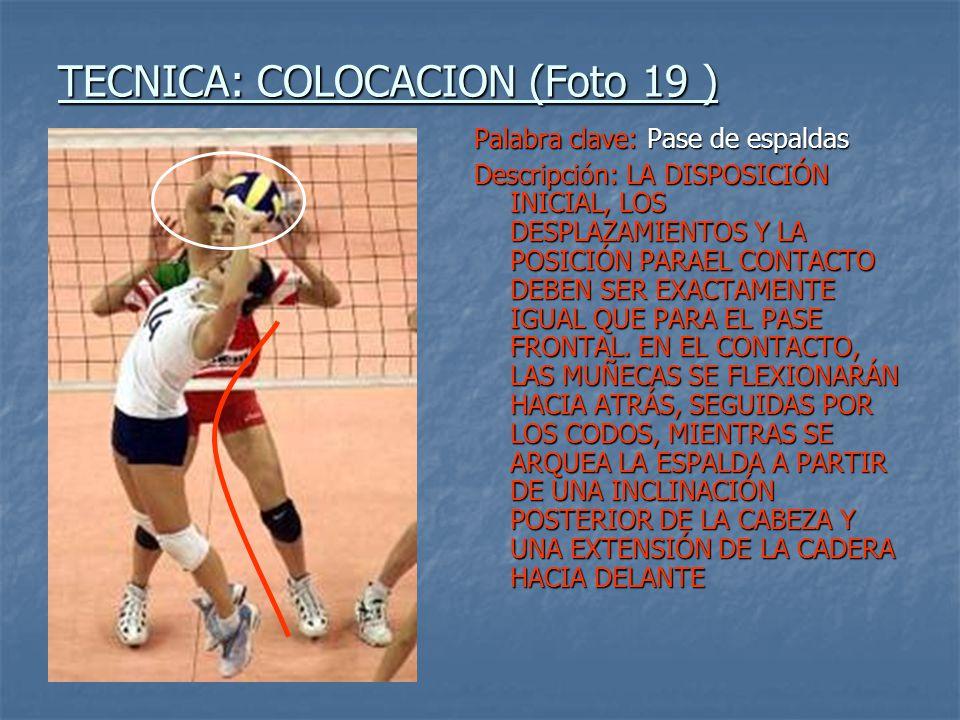 TECNICA: COLOCACION (Foto 19 )