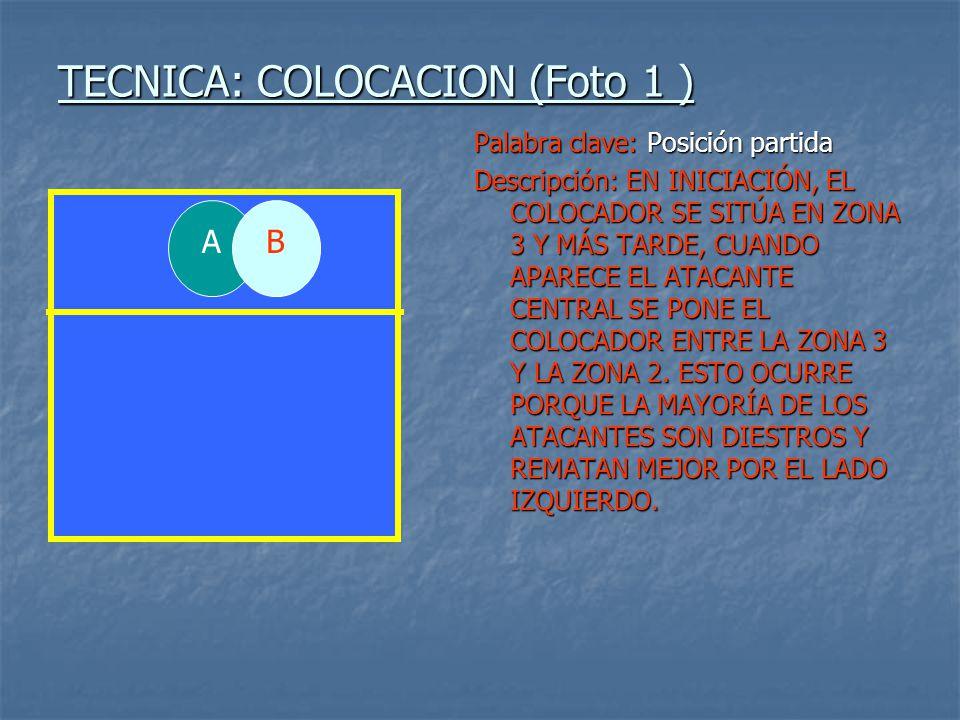 TECNICA: COLOCACION (Foto 1 )