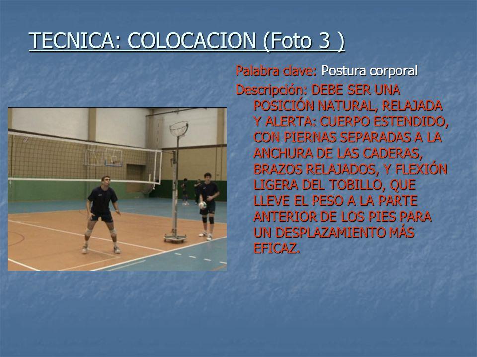 TECNICA: COLOCACION (Foto 3 )