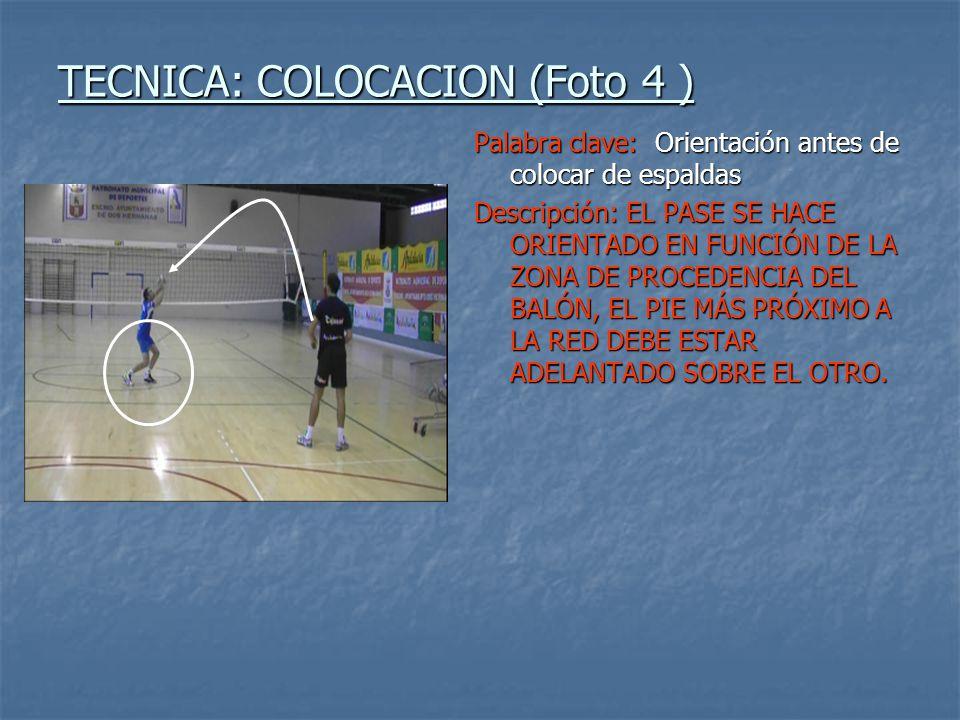 TECNICA: COLOCACION (Foto 4 )