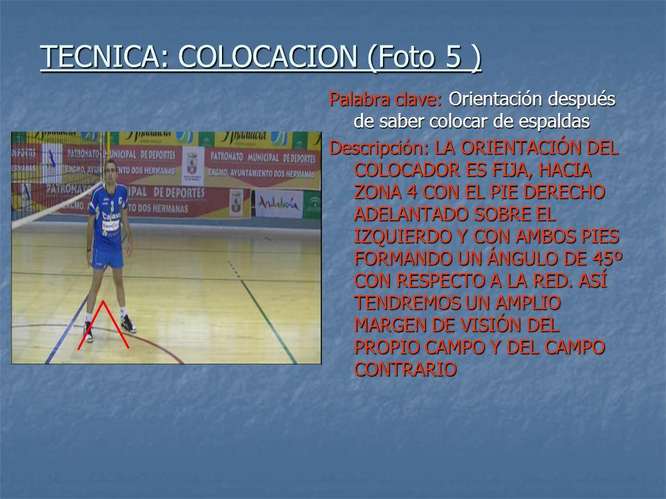 TECNICA: COLOCACION (Foto 5 )