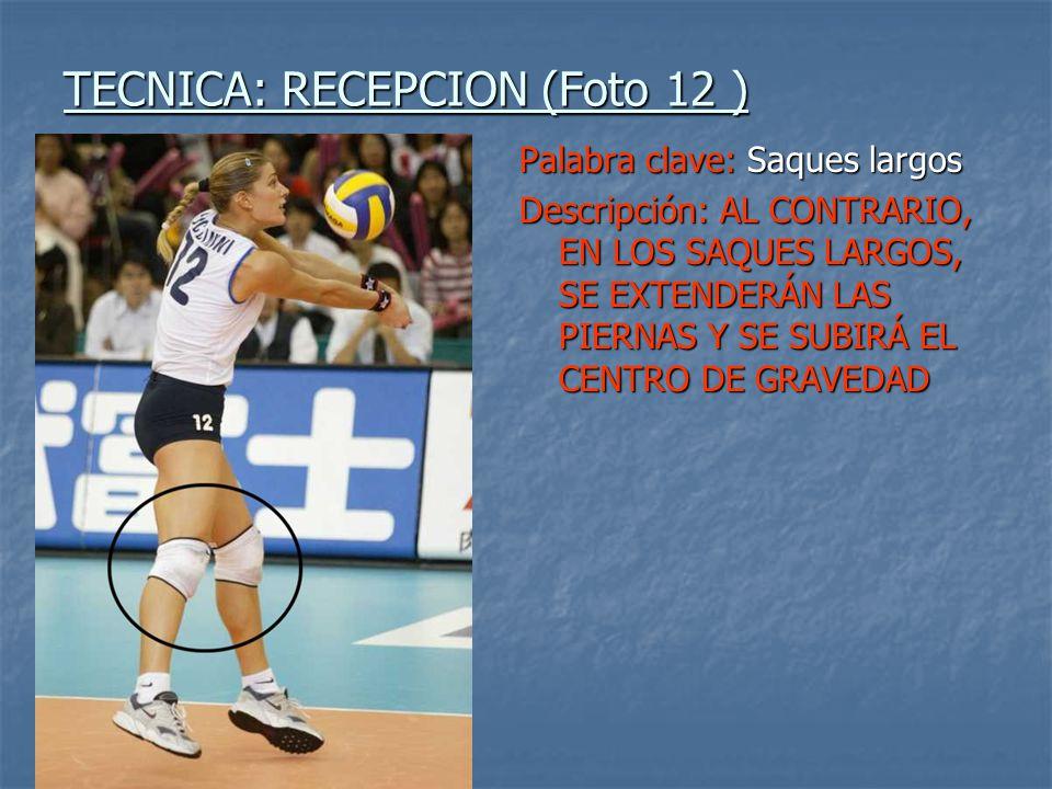 TECNICA: RECEPCION (Foto 12 )