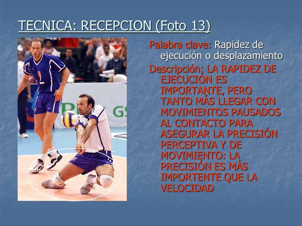 TECNICA: RECEPCION (Foto 13)
