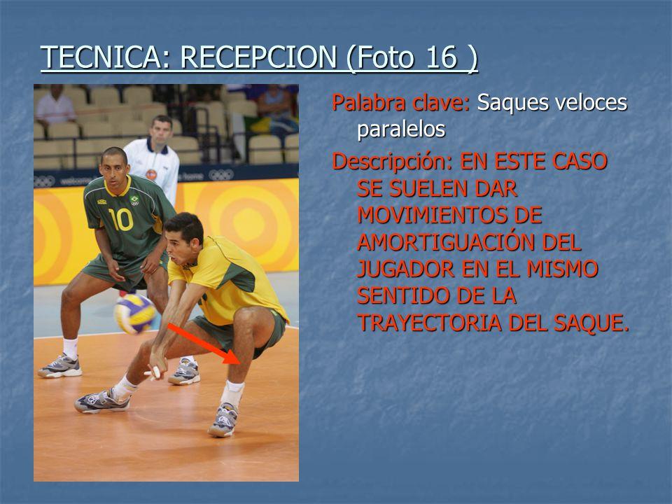 TECNICA: RECEPCION (Foto 16 )