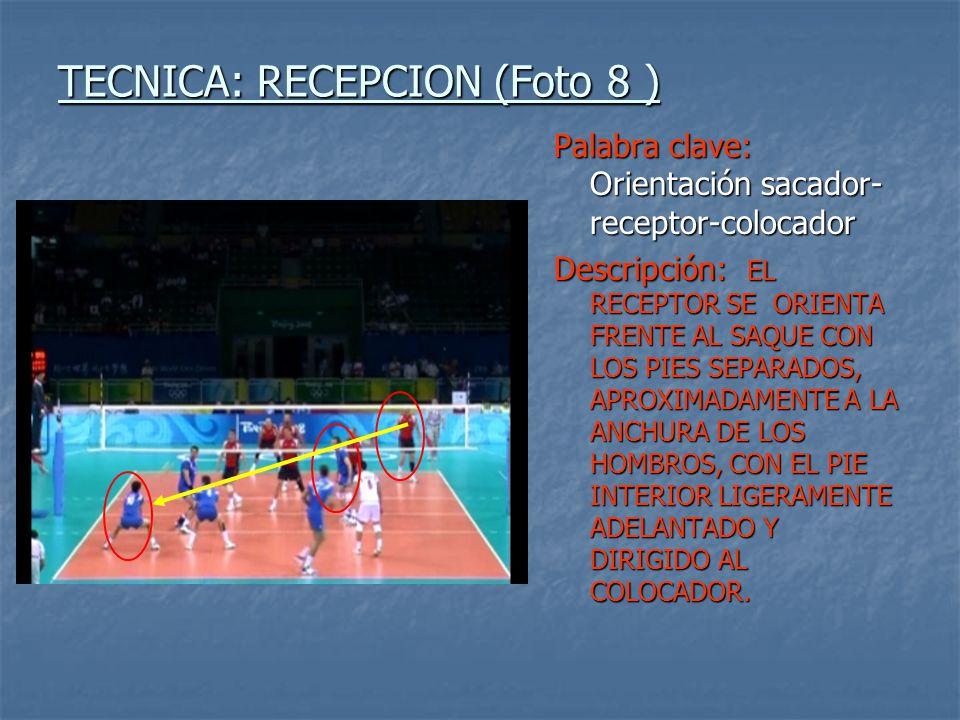 TECNICA: RECEPCION (Foto 8 )