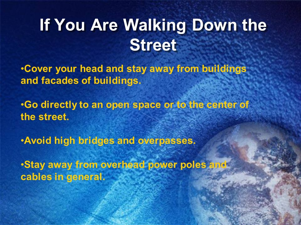If You Are Walking Down the Street
